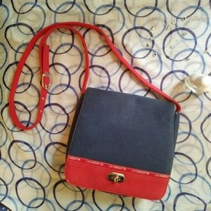 Liz Claiborne Messenger Crossbody Bag Vintage Red